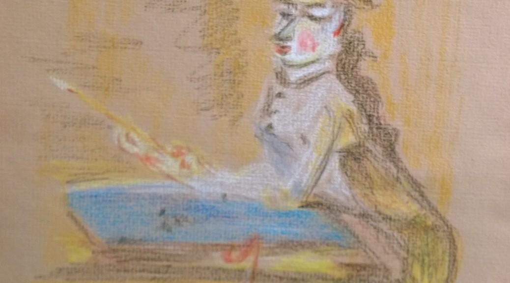 """Après """"Le jeune dessinateur"""" (The Young Draftsman), Jean-Baptiste-Siméon Chardin, drawing by William Eaton"""