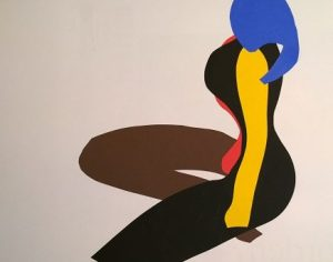 cut-out after J (Matisse-style), by William Eaton