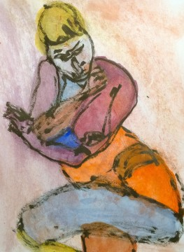 Elya multicolored, drawing by William Eaton, 18 March 2019 - 3