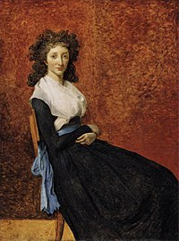 Jacques-Louis David, Portrait de Madame Charles-Louis Trudaine (unfinished, 1791-92), Musée du Louvre