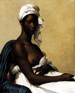 Marie-Guillemine Benoist, Portrait d'une negresse (1800), Musée du Louvre