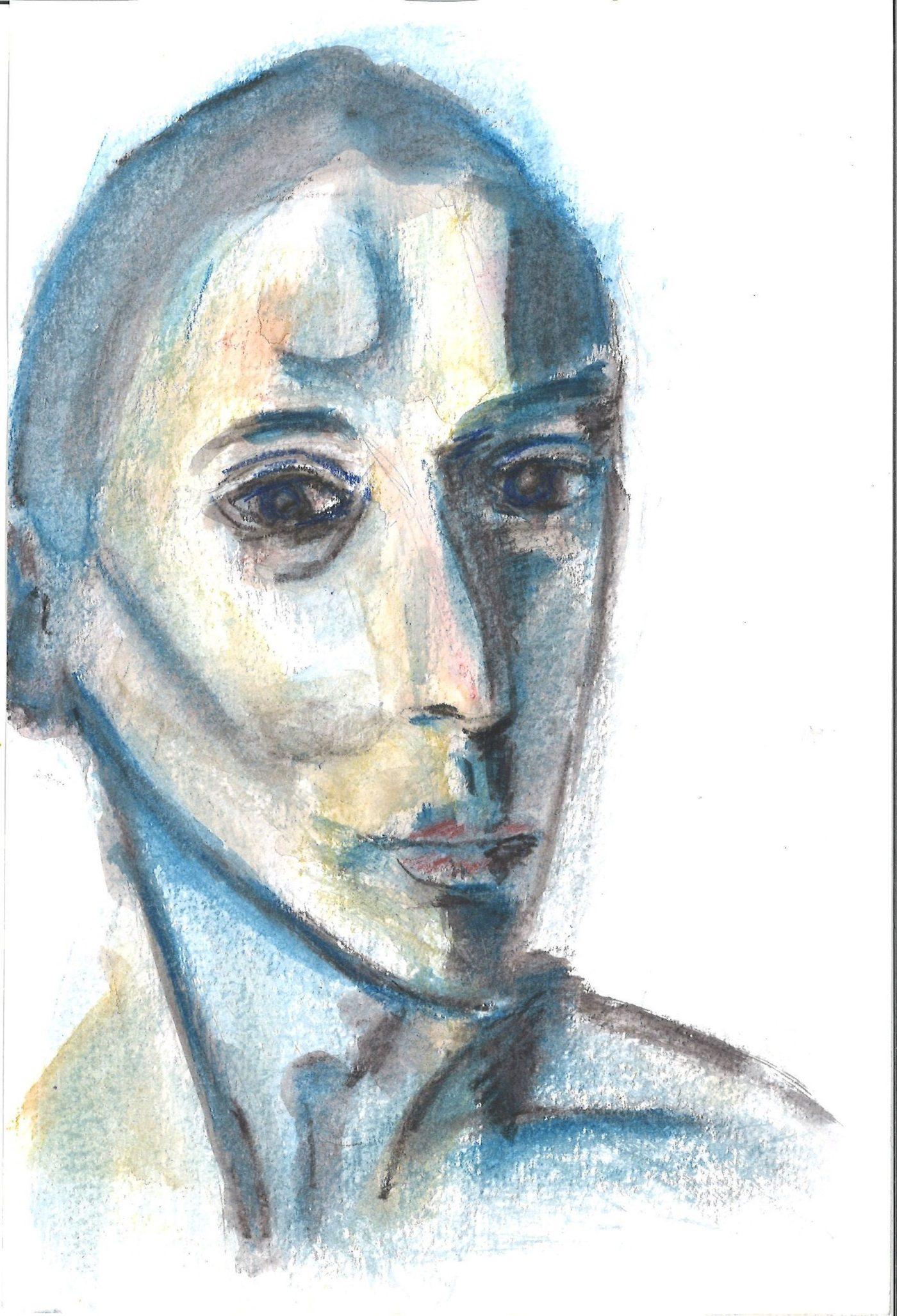 Portrait of Tasha, colored pencils, William Eaton, 2019