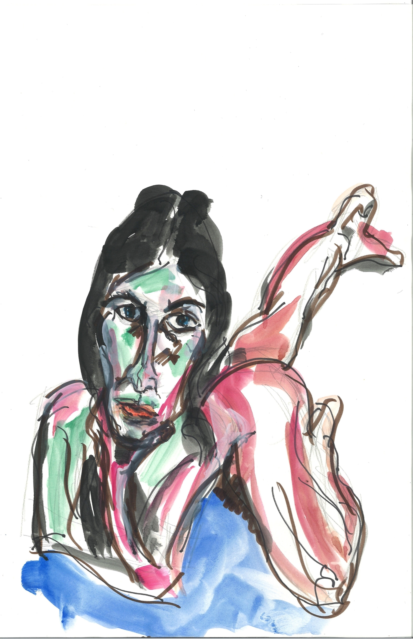 Valentina, 5 April 2020, watercolor by William Eaton