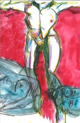 La crisi consiste appunto nel fatto che il vecchio muoree il nuovo non può nascere - watercolor by William Eaton, April 2020